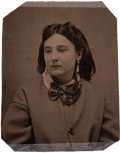"""Photography:Tintypes, Pearl Starr (Younger): A Tintype of the Notorious Daughter of the Equally Notorious Belle Starr, Known as the """"Bandit Queen"""" o..."""