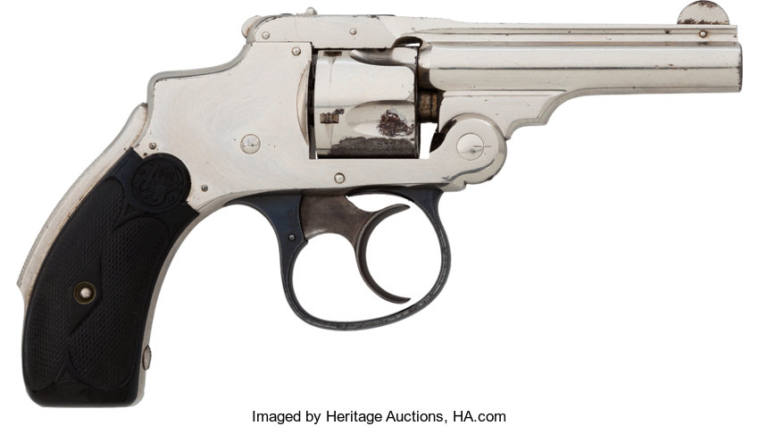 Boxed Smith & Wesson  32 Safety Hammerless 1st Model Double