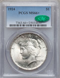 Peace Dollars, 1924 $1 MS66+ PCGS. CAC....