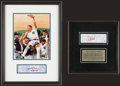 Baseball Collectibles:Tickets, David Wells and David Cone Signed Perfect Game Full Ticket DisplaysLot of 2....