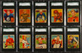 Football Cards:Sets, 1935 National Chicle Football Graded Partial Set (14) Plus An Extra. ...