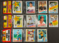 Baseball Cards:Unopened Packs/Display Boxes, 1983 - 1985 Topps Baseball Cello and Rack Pack Group (5) - With HoFers Front/Back. ...