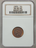 Indian Cents, 1872 1C MS64 Red and Brown NGC....