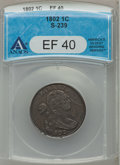 Large Cents, 1802 1C XF40 ANACS. S-239, B-17, R.3....