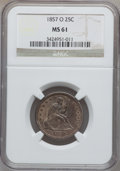 Seated Quarters, 1857-O 25C MS61 NGC....