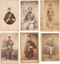 Photography:CDVs, Group of Six Civil War Cartes de Visite of Armed Federal Enlisted Men... (Total: 6 Items)