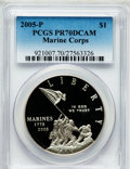 Modern Issues, 2005-P $1 Marine Corps PR70 Deep Cameo PCGS. PCGS Population (778).NGC Census: (2926). Numismedia Wsl. Price for problem ...
