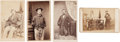 Photography:CDVs, Group of Four Scarce Cartes de Visite Views of Civil War Amputees,... (Total: 4 Items)