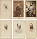 Photography:CDVs, Group of Six E.& H. T. Anthony Cartes de Visite of Confederate Generals.... (Total: 6 Items)