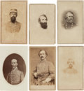 Photography:CDVs, Group of Six Cartes de Visite of Confederate Generals.... (Total: 6 Items)