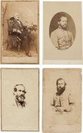 Photography:CDVs, Group of Four Cartes de Visite of Confederate Generals.... (Total: 4 Items)