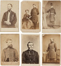 Photography:CDVs, Group of Six Cartes de Visite of Union Generals.... (Total: 6 Items)