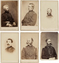 Photography:CDVs, Group of Six Cartes de Visite of Union Generals & Admirals. ... (Total: 6 Items)