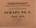 Books:Pamphlets & Tracts, D. C. Johnson. Phrenology Exemplified and Illustrated, WithUpward of Forty Etchings: Being Scraps No. 7, for the Year 1...