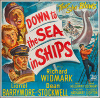 "Down to the Sea in Ships (20th Century Fox, 1949). Six Sheet (78"" X 79""). Adventure"