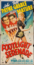 "Movie Posters:Musical, Footlight Serenade (20th Century Fox, 1942). Three Sheet (40"" X78""). Musical.. ..."