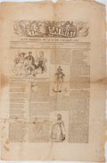 "Books:Americana & American History, [American Newspapers] Volume I Number I Issue of The Satiristand Boston Punch or Charivari. 12.5"" x 18.5"", four..."