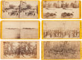 Photography:Stereo Cards, Group of Six E. & H. T. Anthony Yellow-mount Civil War Stereoviews. ... (Total: 6 Items)