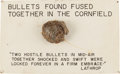 Ammunition, Relic: Collided Minnie Ball Bullets as Found at Antietam....