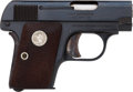 Handguns:Semiautomatic Pistol, Colt Model Vest Pocket 1908 Hammerless Semi-Automatic Pistol with Factory Letter....