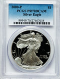 Modern Bullion Coins: , 2000-P $1 Silver Eagle PR70 Deep Cameo PCGS. PCGS Population (633).NGC Census: (1882). Numismedia Wsl. Price for problem ...