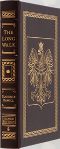 Books:Biography & Memoir, Slavomir Rawicz. SIGNED. The Long Walk. A Gamble for Life.Easton Press, 2004. Signed by the author on a special...