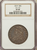 Bust Half Dollars, 1819 50C XF40 NGC. O-113. NGC Census: (28/361). PCGS Population(52/313). Mintage: 2,208,000. Numismedia Wsl. Price for pro...