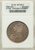 Bust Half Dollars, 1828 50C Curl Base 2, No Knob -- Cleaned, Tooled -- ANACS. XF45Details. O-109. NGC Census: (84/652). PCGS Population (62/4...