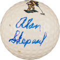 Golf Collectibles:Autographs, Alan Shepard Signed Golf Ball....