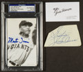 Autographs:Index Cards, African American Legends Signed Cuts, Postcards, And Jackie Robinson Business Card. ...