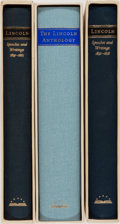 Books:Biography & Memoir, Abraham Lincoln. Group of Three Books Published by Library of America. Publisher's cloth. Modest toning and shelfwear to sli... (Total: 3 Items)