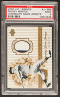 Baseball Cards:Singles (1970-Now), 2000 Upper Deck Legends Legendary Game Jerseys Mickey Mantle#J-MM PSA Mint 9....