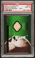 Baseball Cards:Singles (1970-Now), 2001 Upper Deck Ovation A Piece Of History Mickey Mantle #MM PSA Mint 9 - Pop Two, None Higher. ...