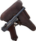 Handguns:Semiautomatic Pistol, German DWM Model P08 1914 Luger Semi-Automatic Pistol withHolster....