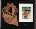 "Movie/TV Memorabilia:Costumes, John Wayne's Scarf from ""Rooster Cogburn"". Wayne's performance in True Grit (1969) was successful enough to spawn the se... (Total: 1 Item)"