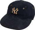 Baseball Collectibles:Uniforms, Early 1930's Lou Gehrig Game Worn New York Yankees Cap....