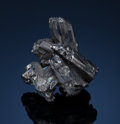 Minerals:Miniature, STEPHANITE. Freiberg District, Erzgebirge, Saxony, Germany....