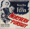 "Movie Posters:Adventure, Northern Pursuit (Warner Brothers, 1943). Six Sheet (78"" X 80"").Adventure.. ..."
