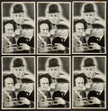 "Movie Posters:Comedy, Three Stooges (Columbia, 1936). Promotional Giveaway Cards (6) (5""X 7.75""). Comedy.. ... (Total: 6 Items)"