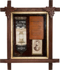Antiques:Folk Art, Northfield Bank Raid: A Unique Victorian Shadowbox Display Honoring J. L. Heywood, the Heroic Cashier Killed in the Robbery At...