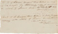 Autographs:Military Figures, William Barret Travis Double Autograph Document Signed on a Single Sheet. ...