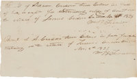 William Barret Travis Double Autograph Document Signed on a Single Sheet