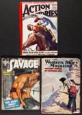 "Movie Posters:Adventure, Doc Savage & Others Lot (Street & Smith, 1940). PulpMagazines (3) (Multiple Pages, 7"" X 9.25). Adventure.. ... (Total:3 Items)"