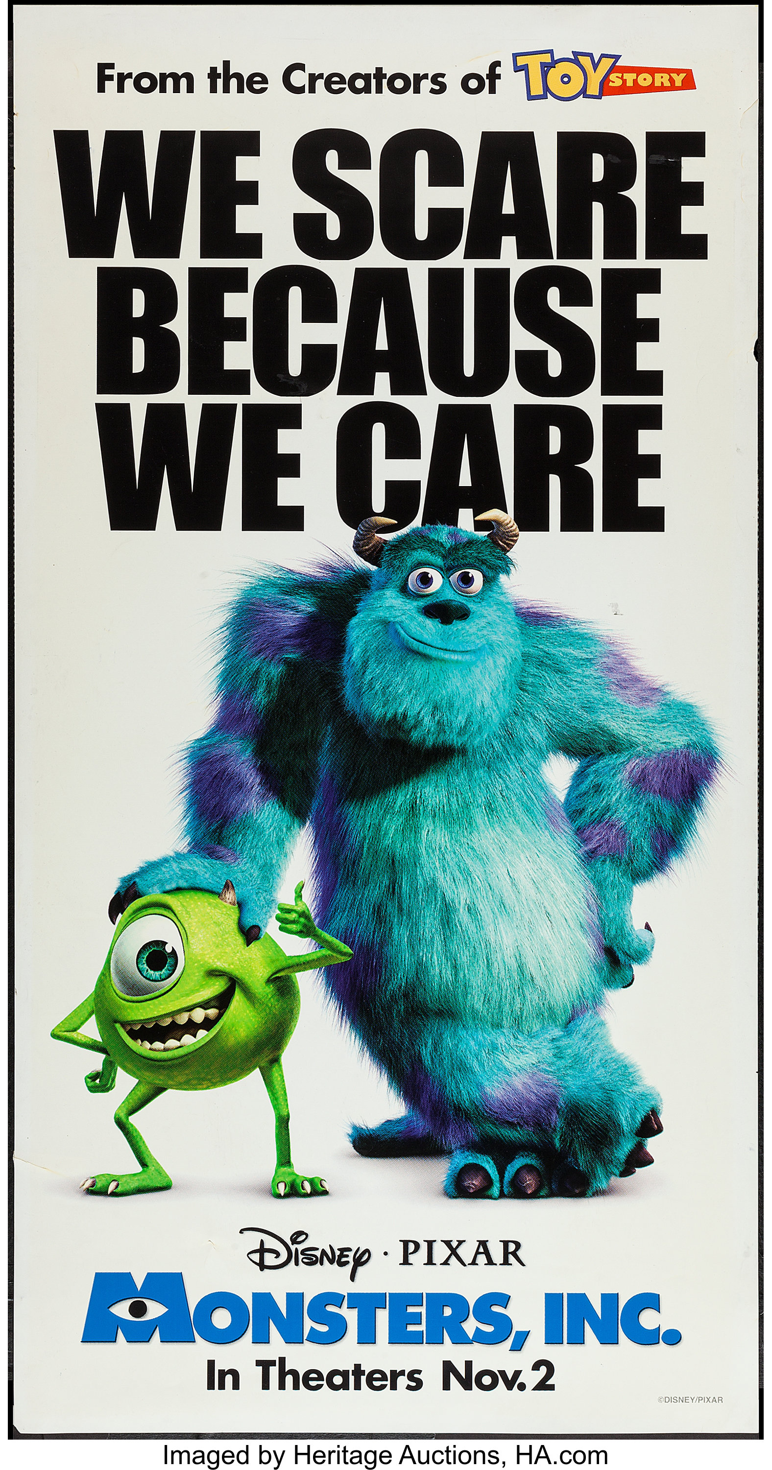 Monsters Inc Buena Vista 2001 Kiosk Poster 26 25 X 50 Ds Lot 50274 Heritage Auctions