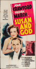 "Movie Posters:Comedy, Susan and God (MGM, 1940). Three Sheet (41"" X 79"") Style B.Comedy.. ..."