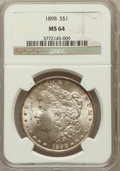 Morgan Dollars: , 1898 $1 MS64 NGC. NGC Census: (7973/3066). PCGS Population(5795/2769). Mintage: 5,884,735. Numismedia Wsl. Price for probl...