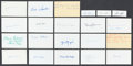 Football Collectibles:Balls, Football Legends Signed Index Cards And Cuts Lot Of 21....