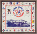 Baseball Collectibles:Others, 1982 All Star Signed Framed Display. ...