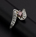 Estate Jewelry:Rings, Fine Pink & White Diamond Gold Ring. ...