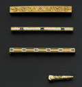 Estate Jewelry:Brooches - Pins, Four Vintage 14k Gold Pins. ... (Total: 4 Items)